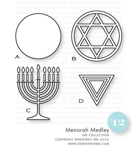 Menorah-Medley-dies