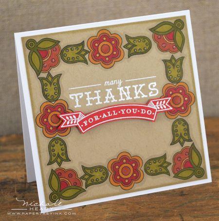 Many Thanks card