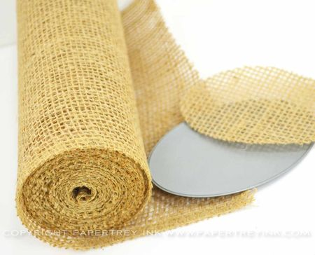 Burlap Craft Roll