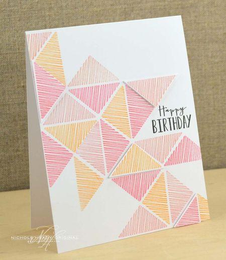 Triangles Birthday Card