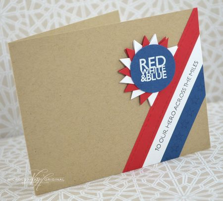 Red White & Blue Card