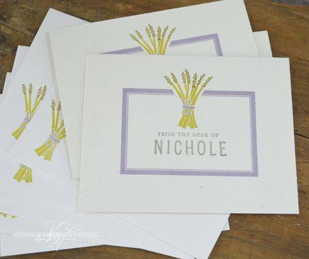 Asparagus Stationery Set