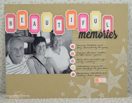 Beautiful Memories Layout