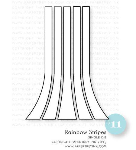 Rainbow-stripes-die