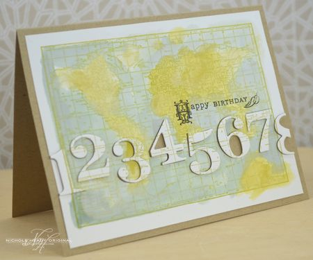 Vintage Map Birthday Card