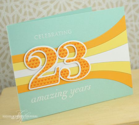 23 Amazing Years Card