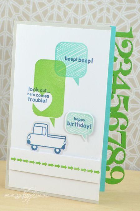 Beep Beep Birthday Card