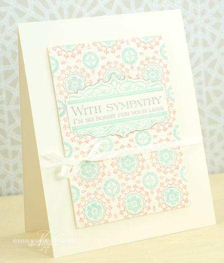 Medallion Sympathy Card