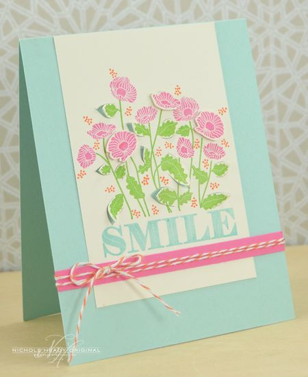 Cut Leaves Smile Card