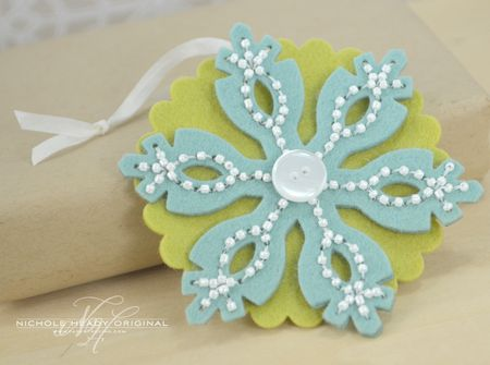 Beaded Snowflake Tag