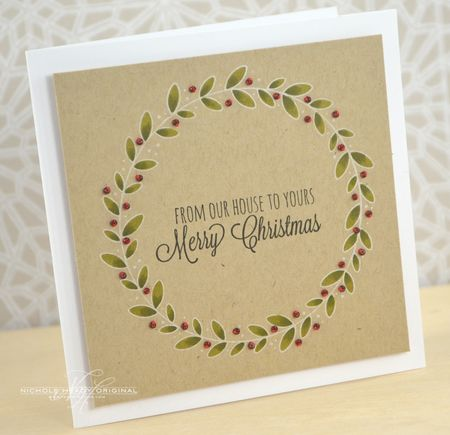 Beaded Wreath Card
