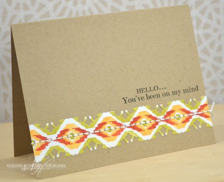 Hello Ikat Card