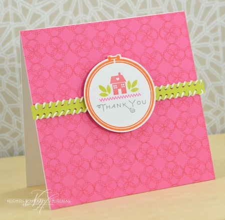Pink Thank You Card