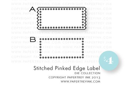 Stitched-Pinked-Edge-Label-die