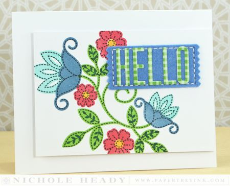 Folk Art Hello Card