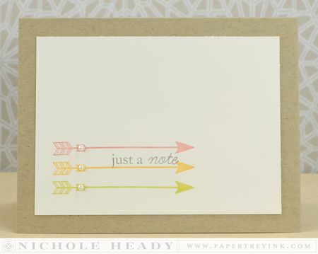 Arrow Note Card