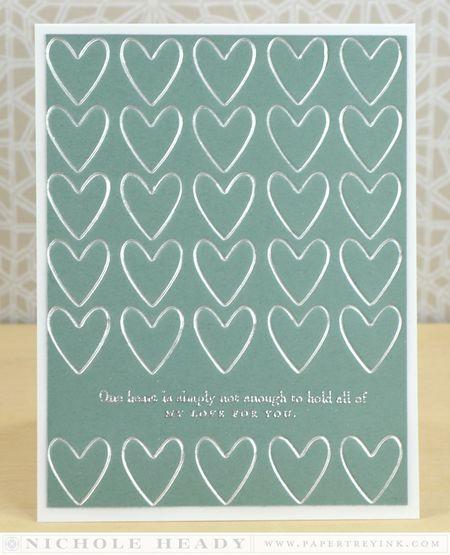 Letterpress Hearts Card