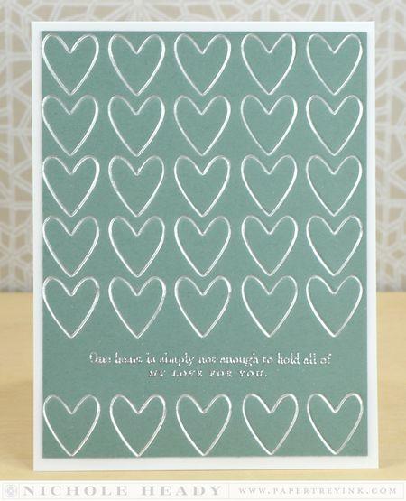 Letterpress Hearts Card