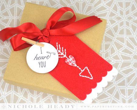 Stitched Valentine Tag