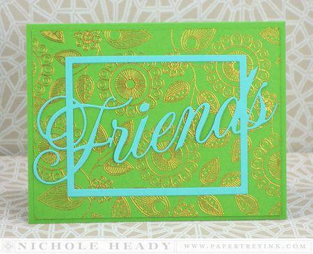 Golden Friends Card