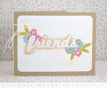 Watercolor Friends Card