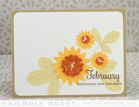 February Flowers Card