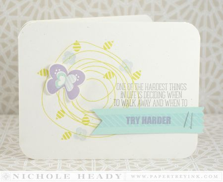 Try Harder Butterfly Card