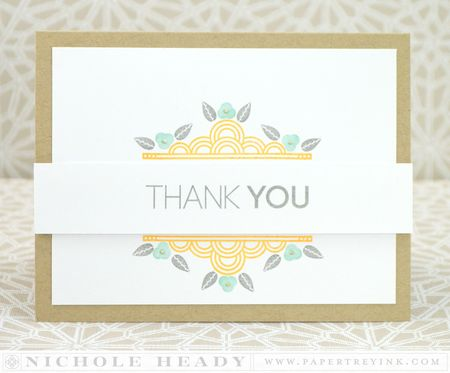 Deco Border Thank You Card