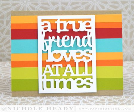 Text Block Friends Card