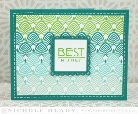 Ombre Best Wishes Card