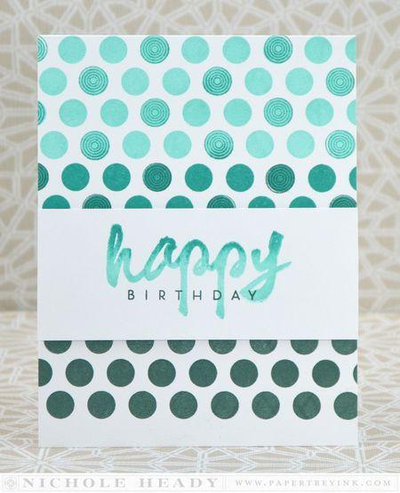 Ombre Happy Birthday Card