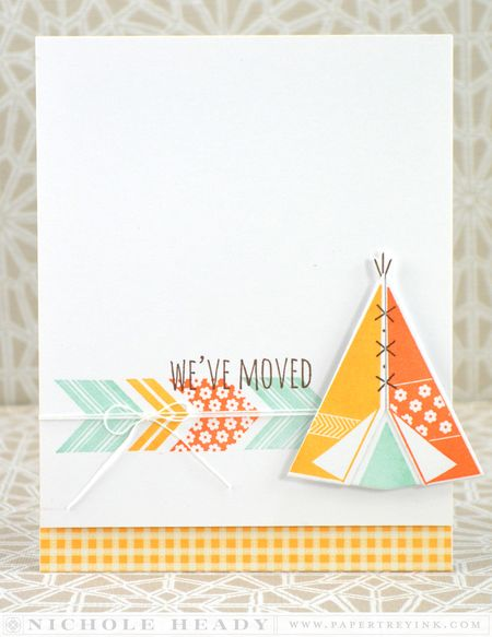 We've Moved Teepee Card