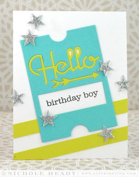 Hello Birthday Boy Card