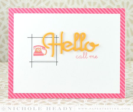 Hello Call Me Card