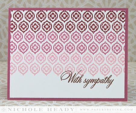 Ombre Sympathy Card