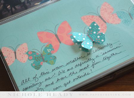 Butterfly journaling card