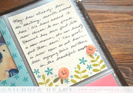 Floral journaling card