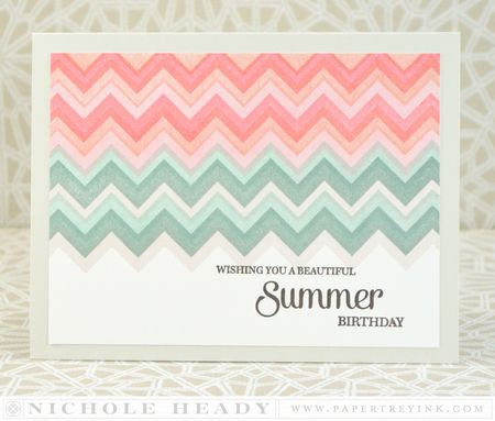 Layered Chevron Card
