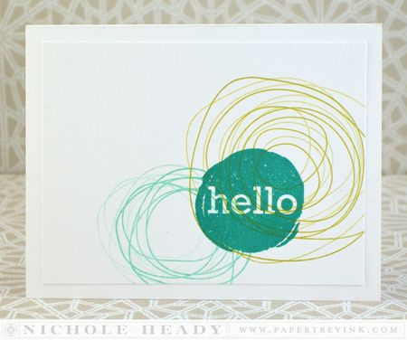 Hello Scribbles card