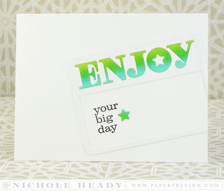 Enjoy Your Big Day Card