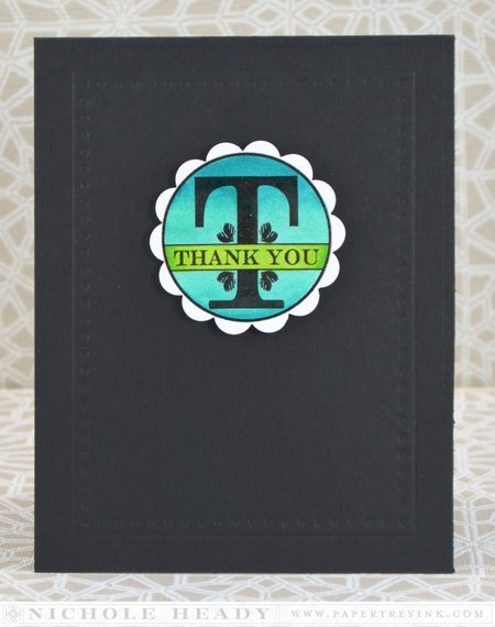 Colored Thank You Card