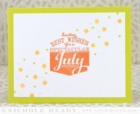 Spectacular July Birthday Card