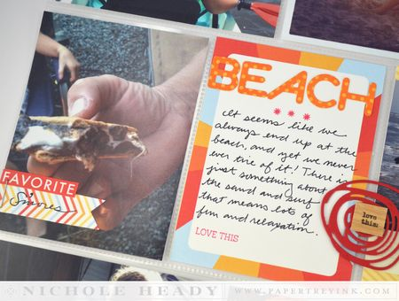 Beach journal card