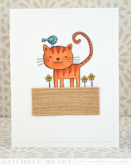 Copic Cat Card