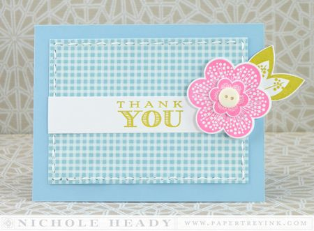 Gingham Thank You Card