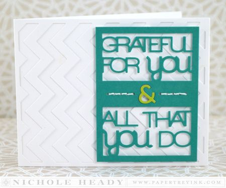 Grateful Chevron Card