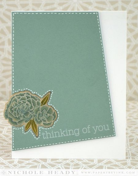 Stitched Thinking of You card