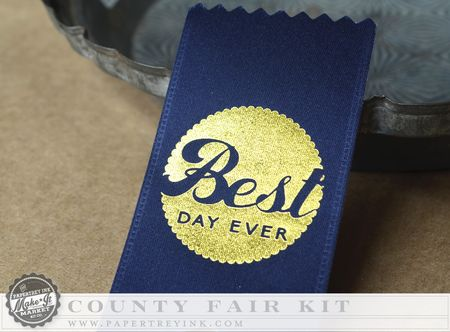 Custom ribbon navy