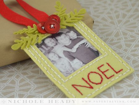 Stitched Photo Ornament