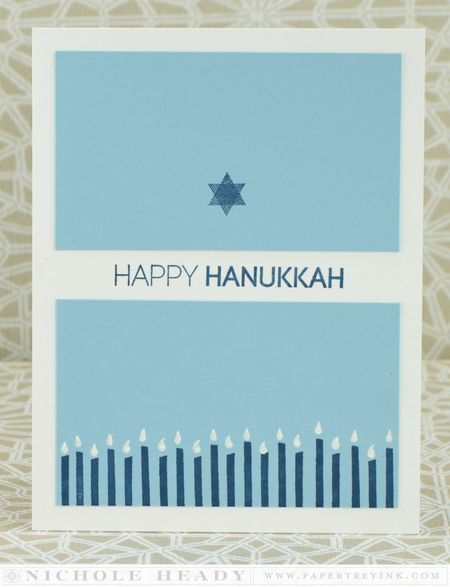 Hanukkah Candles Border Card